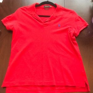 Skinny Polo by Ralph Lauren in red